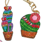 4 CRYSTAL CACTUS KEYCHAINS Diamond Painting Keychain Kit